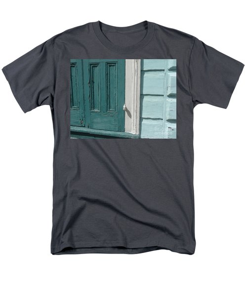 Men's T-Shirt  (Regular Fit) featuring the photograph Turquoise Door by Valerie Reeves