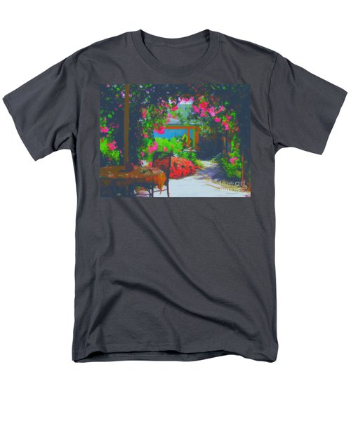 Men's T-Shirt  (Regular Fit) featuring the painting Tuscan Courtyard by Tim Gilliland