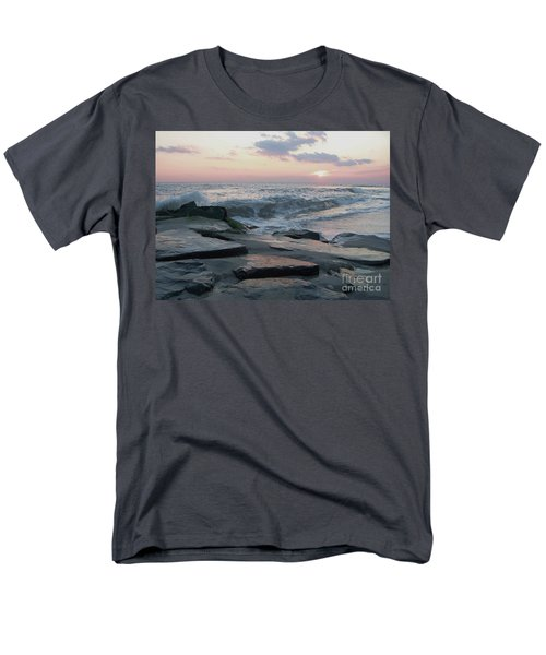 Twilight At Cape May In October Men's T-Shirt  (Regular Fit) by Eric  Schiabor