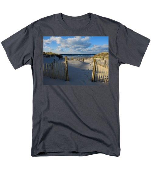 Men's T-Shirt  (Regular Fit) featuring the photograph Golden Hour Beach by Dianne Cowen