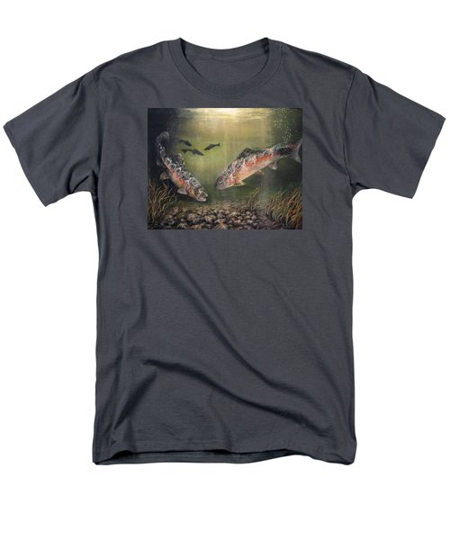 Two Rainbow Trout Men's T-Shirt  (Regular Fit) by Donna Tucker
