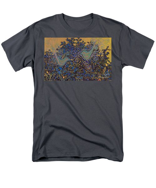 Two Turtle Doves In A Pear Tree Men's T-Shirt  (Regular Fit) by First Star Art