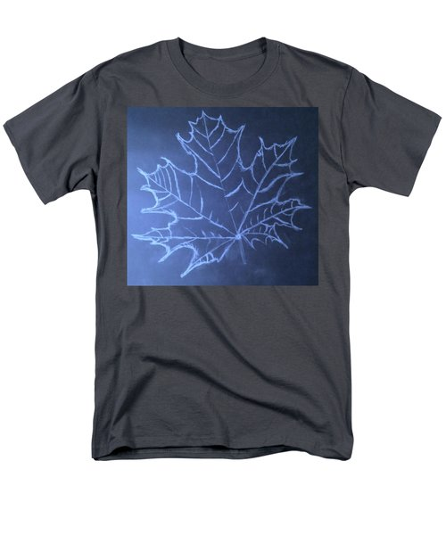 Men's T-Shirt  (Regular Fit) featuring the drawing Uncertaintys Leaf by Jason Padgett