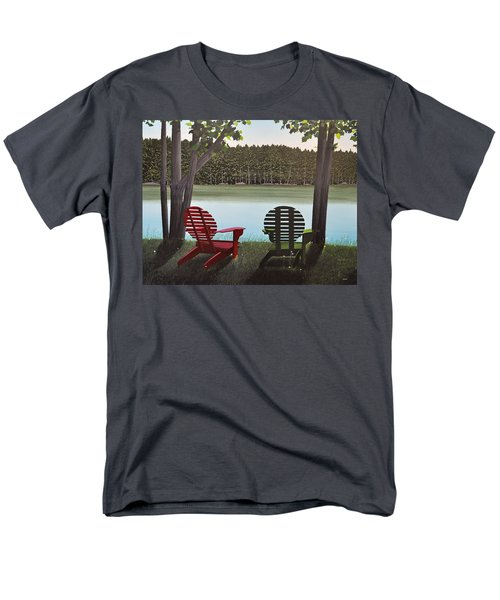 Under Muskoka Trees Men's T-Shirt  (Regular Fit) by Kenneth M  Kirsch