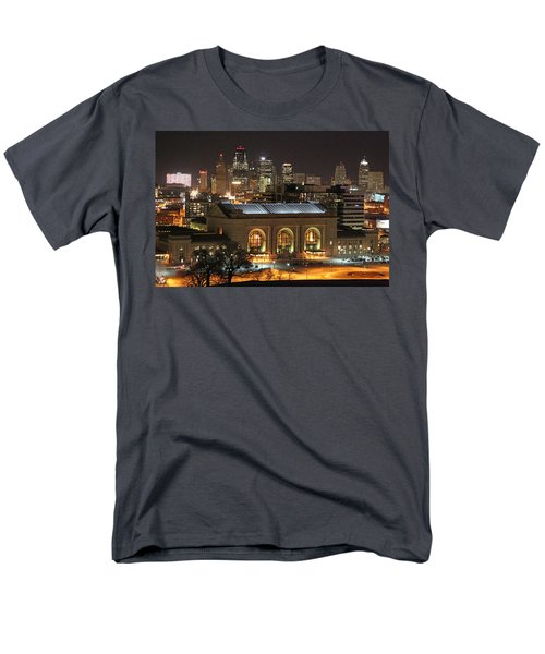 Union Station At Night Men's T-Shirt  (Regular Fit) by Lynn Sprowl