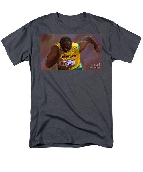 Usain Bolt 2012 Olympics Men's T-Shirt  (Regular Fit) by Vannetta Ferguson