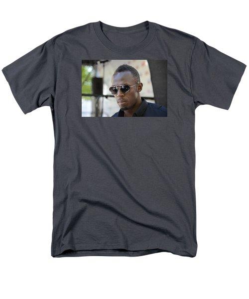 Men's T-Shirt  (Regular Fit) featuring the photograph Usain Bolt - The Legend 3 by Teo SITCHET-KANDA