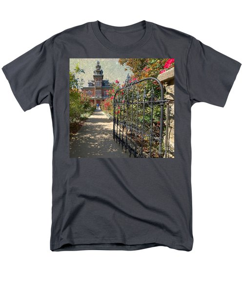 Vaile Landscape And Gate Men's T-Shirt  (Regular Fit) by Liane Wright