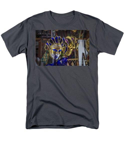 Venetian Carnival Masks Cadiz Spain Men's T-Shirt  (Regular Fit) by Pablo Avanzini