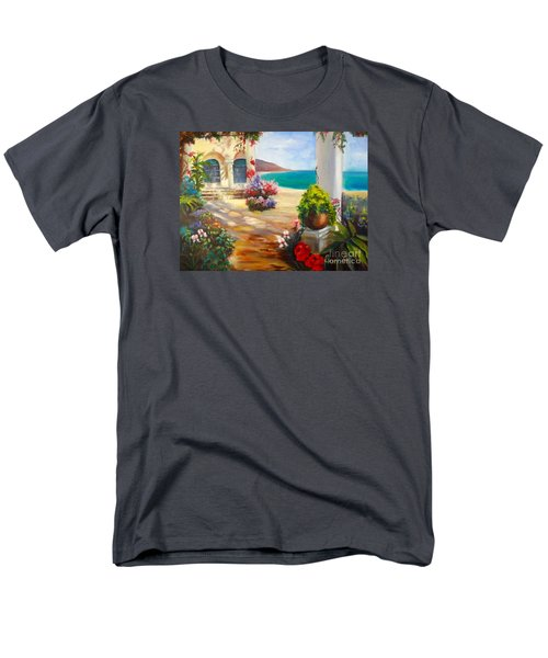 Men's T-Shirt  (Regular Fit) featuring the painting Venice Villa by Jenny Lee