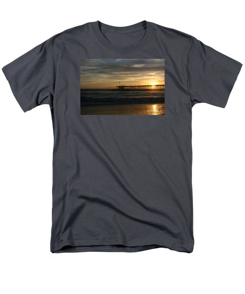 Men's T-Shirt  (Regular Fit) featuring the photograph Ventura Pier 01-10-2010 Sunset  by Ian Donley