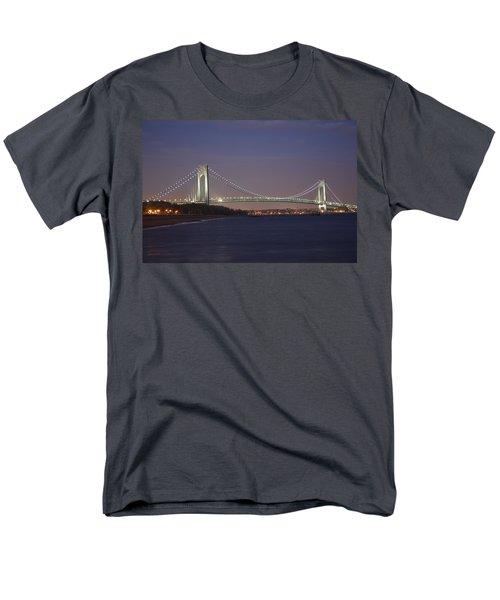 Verrazano Narrows Bridge At Night Men's T-Shirt  (Regular Fit) by Kenneth Cole