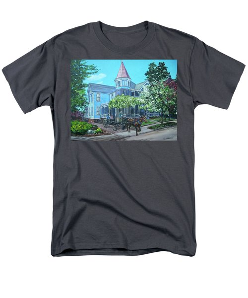 Men's T-Shirt  (Regular Fit) featuring the painting Victorian Greenville by Bryan Bustard
