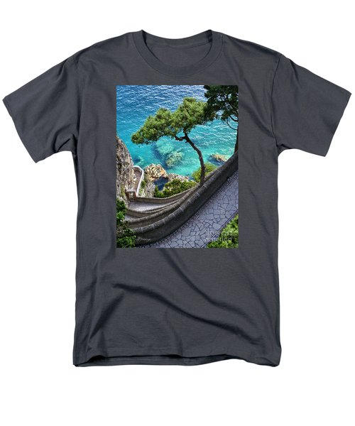 View From Capri.italy Men's T-Shirt  (Regular Fit) by Jennie Breeze
