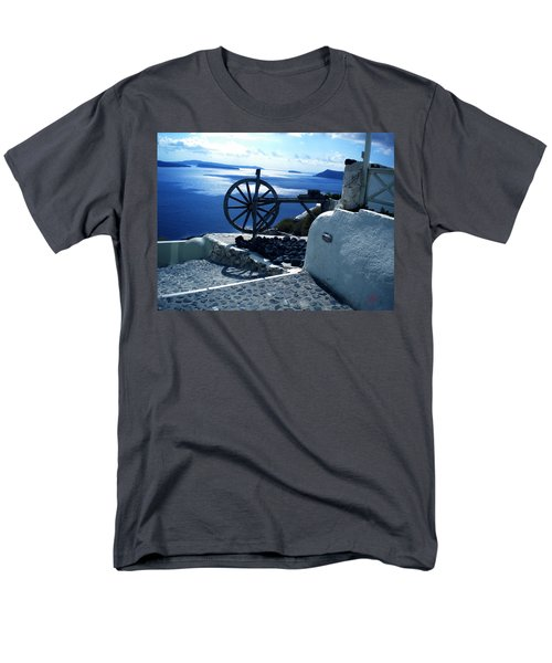 Men's T-Shirt  (Regular Fit) featuring the photograph View From Santorini Island Greece by Colette V Hera  Guggenheim