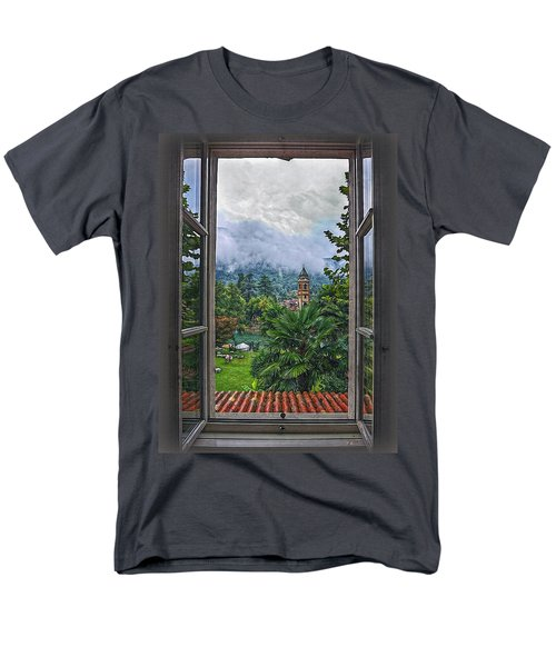 Men's T-Shirt  (Regular Fit) featuring the photograph Vision Through The Window by Hanny Heim