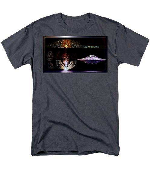 Men's T-Shirt  (Regular Fit) featuring the digital art Visitor To Atlantis by Hartmut Jager