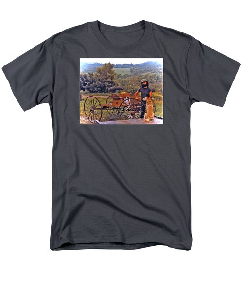 Waiting For A Lift On The Old Buckboard Men's T-Shirt  (Regular Fit) by Patricia Keller