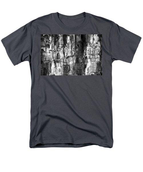 Men's T-Shirt  (Regular Fit) featuring the photograph Wall Of Rock by Miroslava Jurcik
