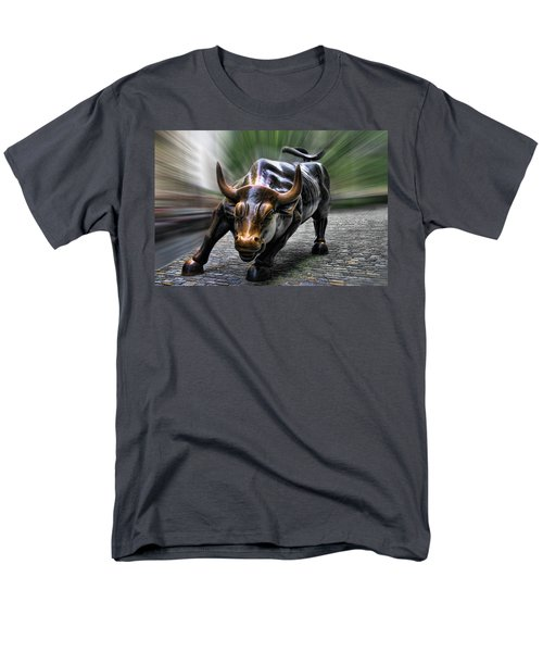 Wall Street Bull Men's T-Shirt  (Regular Fit) by Wes and Dotty Weber