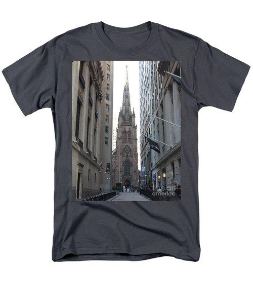 Wall Street Leading To Trinity Church Men's T-Shirt  (Regular Fit) by John Telfer