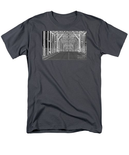 Men's T-Shirt  (Regular Fit) featuring the photograph Walnut Black And White by Geraldine DeBoer