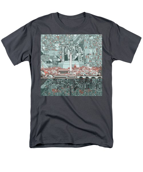 Washington Dc Skyline Abstract Men's T-Shirt  (Regular Fit)
