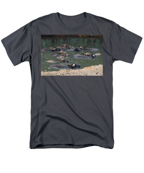 Water Buffalo Men's T-Shirt  (Regular Fit) by Chris Flees