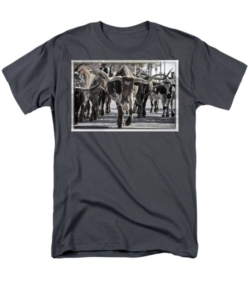 Watercolor Longhorns Men's T-Shirt  (Regular Fit)