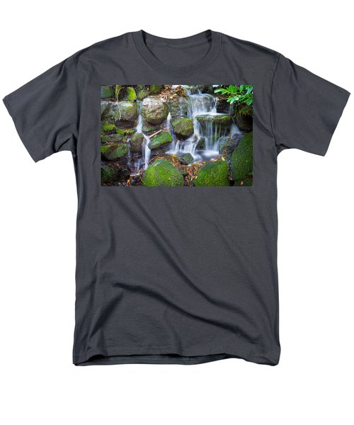 Waterfall In Marlay Park Men's T-Shirt  (Regular Fit) by Semmick Photo