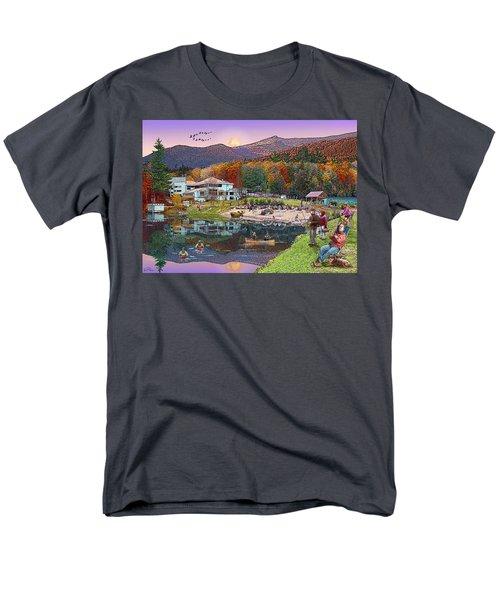 Waterville Estates In Autumn Men's T-Shirt  (Regular Fit) by Nancy Griswold