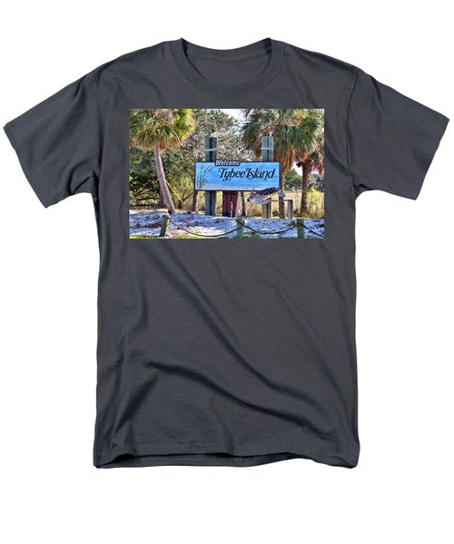Welcome To Tybee Men's T-Shirt  (Regular Fit) by Gordon Elwell