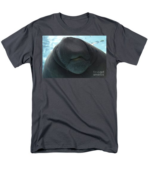 West Indian Manatee Smile Men's T-Shirt  (Regular Fit) by Meg Rousher