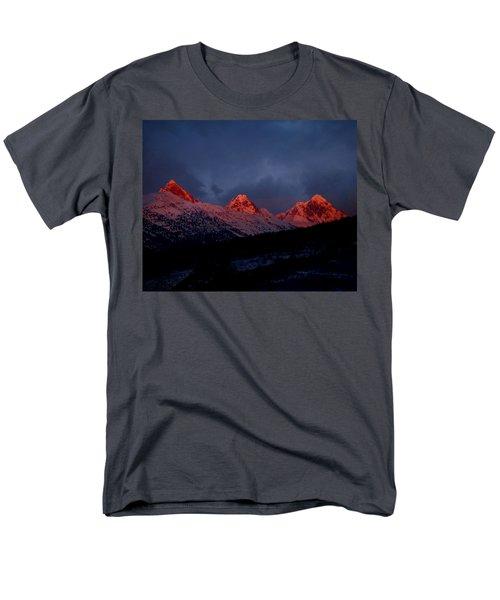 Men's T-Shirt  (Regular Fit) featuring the photograph West Side Teton Sunset by Raymond Salani III