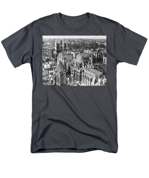 Westminster Abbey In London Men's T-Shirt  (Regular Fit) by Underwood Archives