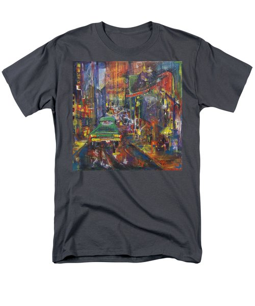 Wet China Lights Men's T-Shirt  (Regular Fit) by Leela Payne