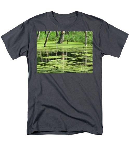 Wetland Reflection Men's T-Shirt  (Regular Fit) by Ann Horn