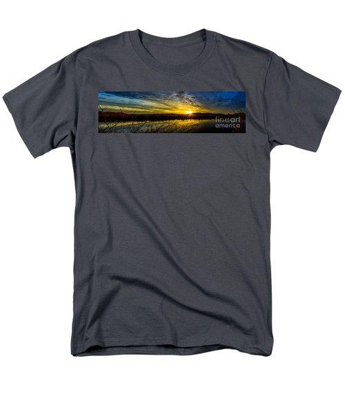 Wetlands Sunset Men's T-Shirt  (Regular Fit) by Michael Cross