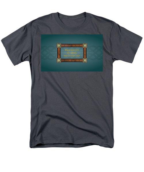 Whe Irish Eyes Are Smiling Men's T-Shirt  (Regular Fit) by Ireland Calling
