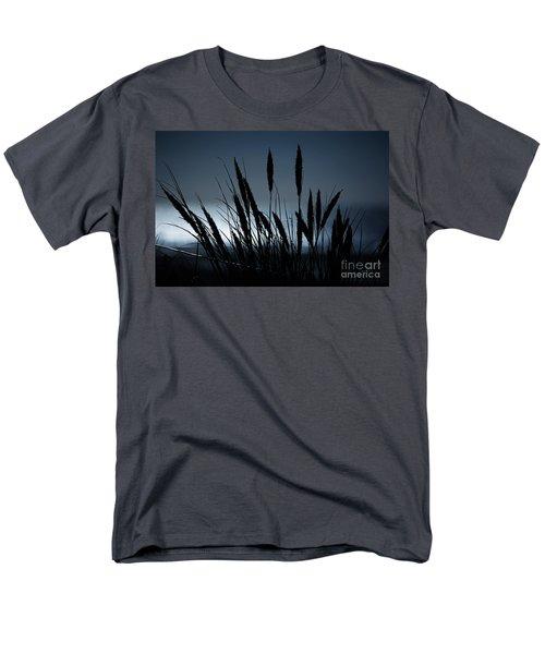 Wheat Stalks On A Dune At Moonlight Men's T-Shirt  (Regular Fit) by Nick  Biemans