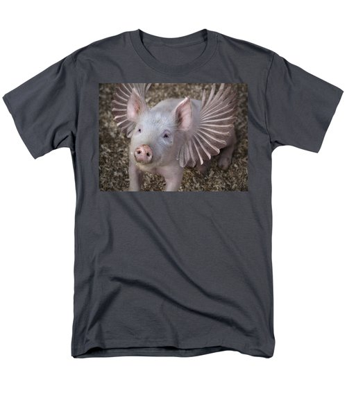 When Pigs Fly Men's T-Shirt  (Regular Fit) by Rick Mosher