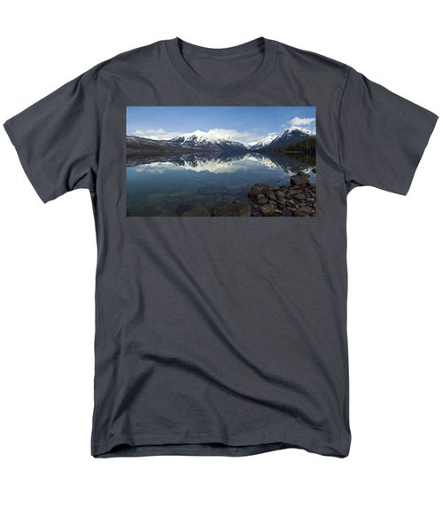 When The Sun Shines On Glacier National Park Men's T-Shirt  (Regular Fit) by Fran Riley