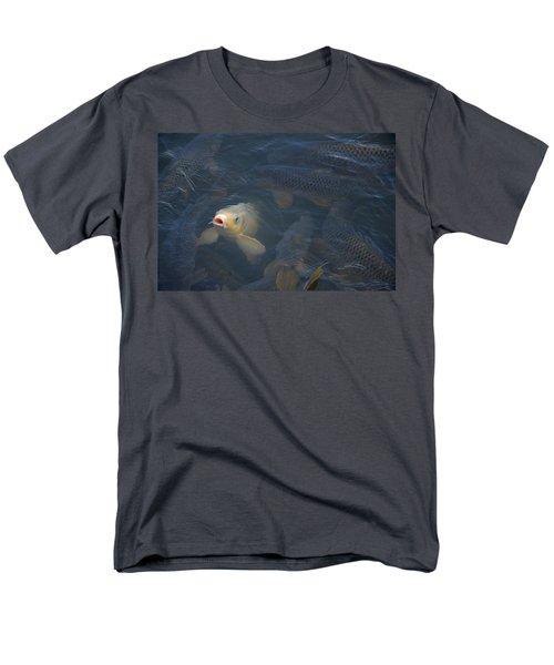 White Carp In The Lake Men's T-Shirt  (Regular Fit) by Chris Flees