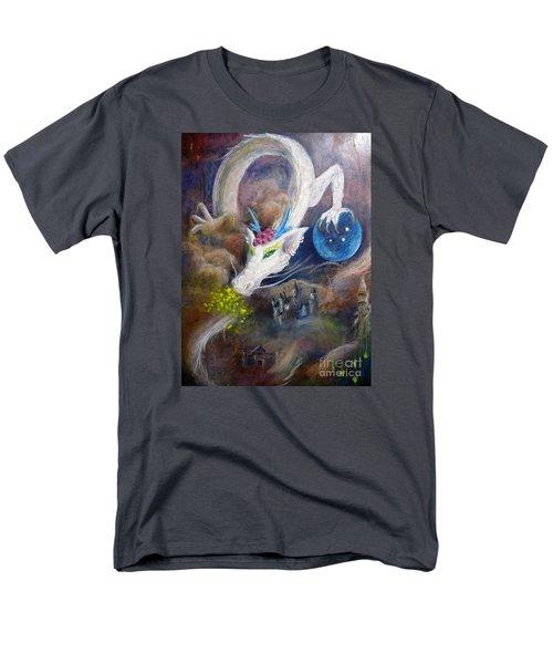 White Dragon Men's T-Shirt  (Regular Fit)