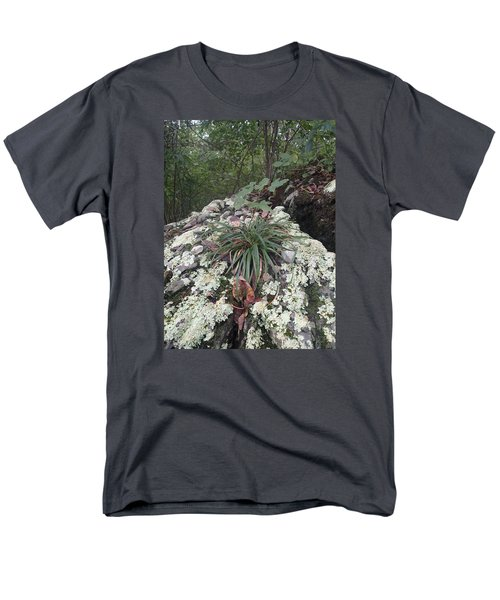 Men's T-Shirt  (Regular Fit) featuring the photograph White Lichen by Robert Nickologianis