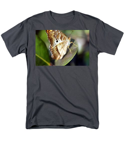 Men's T-Shirt  (Regular Fit) featuring the photograph White Peacock Butterfly by Greg Allore