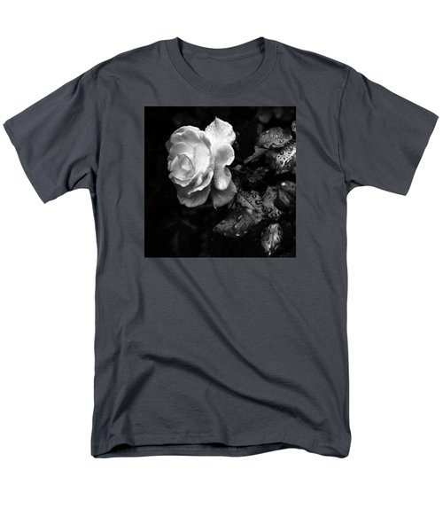Men's T-Shirt  (Regular Fit) featuring the photograph White Rose Full Bloom by Darryl Dalton