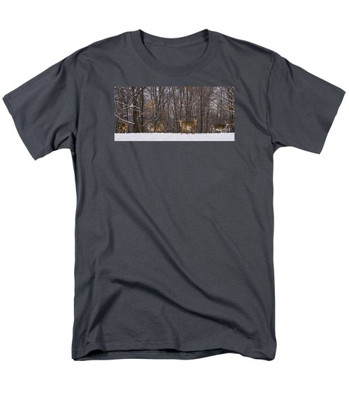 White Tailed Deer Men's T-Shirt  (Regular Fit) by Anthony Sacco