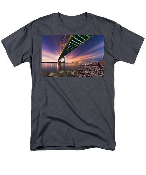 Men's T-Shirt  (Regular Fit) featuring the photograph Whitestone Bridge by Mihai Andritoiu