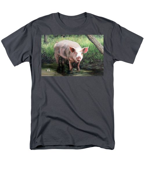 Wilbur In His Woods Men's T-Shirt  (Regular Fit) by Sandra Chase
